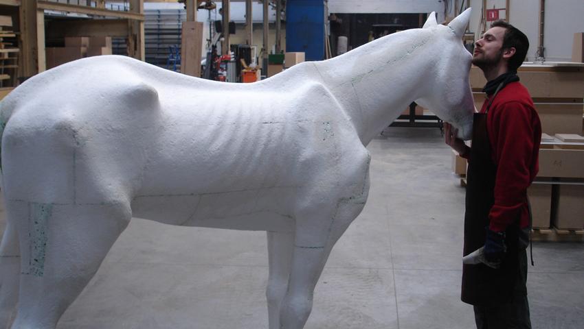 paard van don quichotte, de munt brussel, atento decorbouw bvba